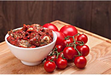 Tomates cerise séchées à l'huile d'olive